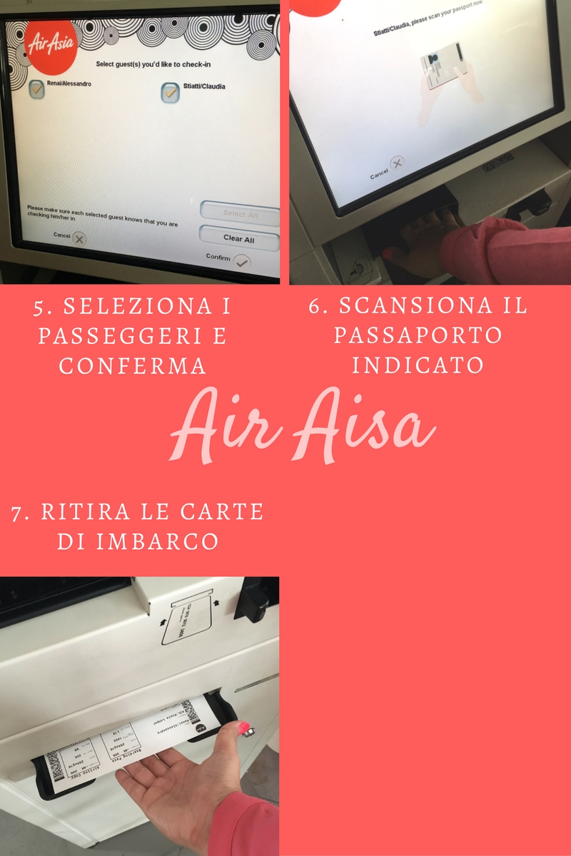 Airasia check in e stampa etichette