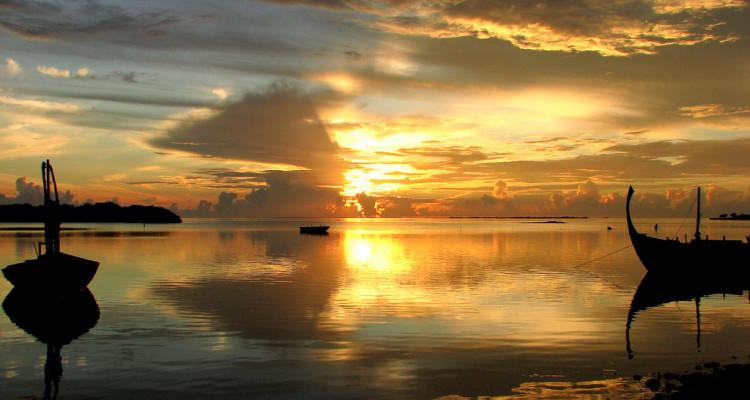 Una giornata a Keyodhoo (Maldive) dall'alba al tramonto ...