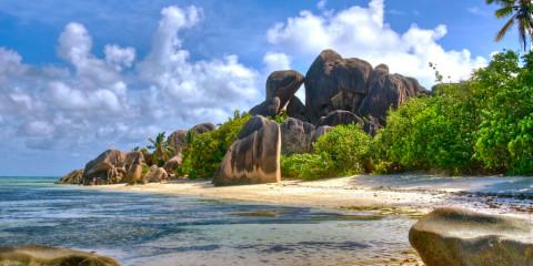 Spiaggia delle Seychelles