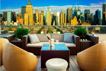 Rooftop bar New York